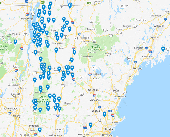 Nature Program schools map 2018